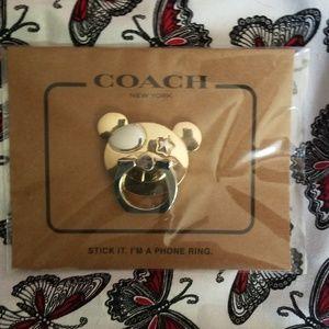 Coach Teddy Bear Phone Grip